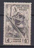 N° 618 Centenaire De La Ligne De Chemin De Fer Paris Orléans: Beau Timbre Neuf Impeccable Sans Charnière - Unused Stamps