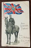 GENERAL LORD METHUEN A CAVALLO +ENGLISH FLAG  SUPERB EARLY CHROMO POST CARD  A DONNA ANNA MARIA BORGHESE 24/10/06 - Monde
