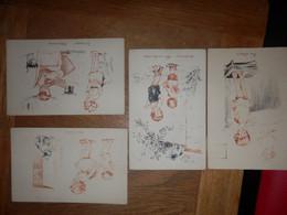(28)   Lot De 4 Cartes Avec Enfants - Collections, Lots & Series