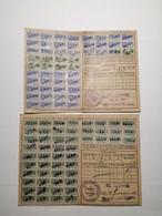 Carte De Quittance Avec Timbres Fiscaux 1875-1919  5pcs - Alsace-Lorraine