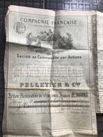 Compagnie Francaise Des Chocolats & Des Thes Action Nominative De Cinq Cents Francs A Paris Le 6 Decembre 1886 - Unclassified