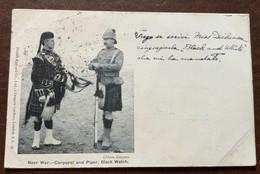 BOER WAR - CORPORAL AND PIPER,BLACK WATCH -Military Postcard  A DONNA ANNA MARIA BORGHESE 2/10/1900 - Monde