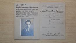 VECCHIA TESSERA DI IDENTIFICAZIONE PER BIGLIETTI FERROVIARI FERROVIA DEL RENON BOLZANO CON MARCHE COMUNALI FISCALI - Unclassified