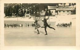 Photo Cpa Suisse VILLARS. Exhibition De Patinage 1926 - VD Waadt