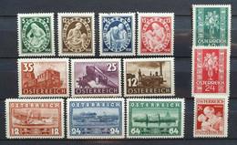 Österreich 1937, Mi 638-648 Und 658-59 MNH Postfrisch - Nuovi