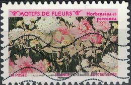 France 2021 Oblitéré Used Motifs De Fleurs Hortensias Et Pivoines - Used Stamps