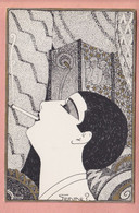 ILLUSTRATED  POSTCARD - DECO STYLE - SERIE OPIUM - WOMAN - E. BORNAND / GENEVE - Andere Zeichner