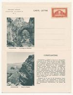 ALGERIE - Entier Postal Carte-lettre N°3 Constantine - Les Gorges Du Rhummel - Neuf 90c - Covers & Documents