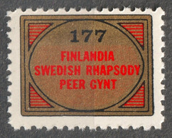 SIBELIUS FINLANDIA SWEDISH RHAPSODY GRIEG PEER GYNT Album LP Vinyl Trading Voucher Coupon LABEL CINDERELLA VIGNETTE - Sonstige
