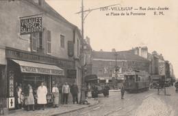 94 Villejuif, Rue Jean Jaures, Et Place De La Fontaine, Tramway - Villejuif