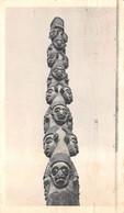 CPSM Moutarde AMORA - CAMEROUN , Totem Sculpté - Timbrée, Oblitérée 1953 ( ͡◕͜ʖ ͡◕) ♦ - Publicité
