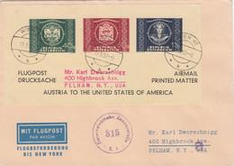 Österreich Brief 1950 Zensur To USA - 1945-60 Brieven