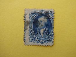 ETATS UNIS N° 26 Washington Avec Grille De 9 X 13 Mm Cote 2000 €  Voir Scans - Used Stamps