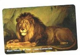 VATICANO-VATICAN-VATICAN CITY  CAT. C&C      6129 - LEONE ACCOVACCIATO. W.PETER - Giungla