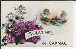 Souvenir De Carnac Carte Fleurie - Carnac