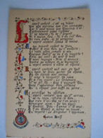 Enluminures Pensée Gustave Isely L'sprit Content, C'est Un Trésor Des Plus Précieux..Sang Et Feu Armée Du Salut Armoirie - Autres