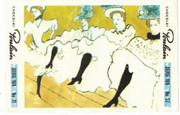 IMAGE CHROMO CHOCOLAT POULAIN Série 198 BAL DU MOULIN ROUGE => Image N° 32 LA BELLE EPOQUE FRENCH CANCAN DANSE - Poulain