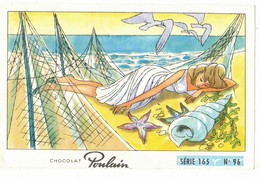 IMAGE CHROMO CHOCOLAT POULAIN Série 165 LES MOUETTES => Image N° 96 MUSIQUE CHANSON ARPEGE DENONCIN MAREUIL BEUSCHER - Poulain