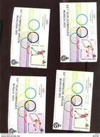 Belgie Erinno E119 E120 E121 E122 OCB 5€ RR MUNICH Germany Olympics Athletics - Commemorative Labels