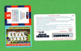 TIM  - Con Gli Azzurri Verso I Mondiali 2002 - 5 €  Validità  Mar. 2004  -  IF5-M  ETU-D1 - Ricarica Già USATA - GSM-Kaarten, Aanvulling & Voorafbetaald