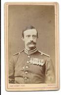 CDV Portrait Soldat Militaire  ( Armée Allemande ?)  Aachen - Oorlog, Militair