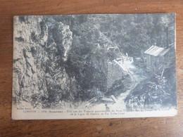 Corrèze, Soursac, Vue Des Travaux Du Pont Suspendu, Gorges De La Luzère. - Other Municipalities