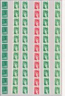 EC-722: FRANCE: Lot Avec Roulettes De 11 Timbres** N°65-69-71-72-73-77(2)-79 - Rollen