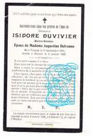 DP Maître Batelier - Isidore Duvivier ° Tihange Huy 1841 † Ampsin Amay 1905 X Augustine Delvenne - Devotion Images