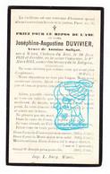 DP Joséphine Augustine Duvivier ° Château Du Biez Wiers Péruwelz 1829 † 1913 X Antoine Saligot - Images Religieuses
