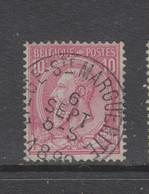 COB 46 Oblitération Centrale LIEGE (STE-MARGUERITE) - 1884-1891 Leopold II