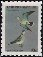 Île Christmas Timbre Fictif Autocollant Oiseaux Deux Tourterelles Two Turtle Doves Scrapbooking - Scrapbooking