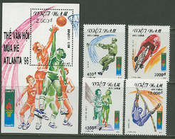 Vietnam 1995 Olympic Games Atlanta, Basketball, Cycling Etc. Set Of 4 + S/s MNH - Verano 1996: Atlanta