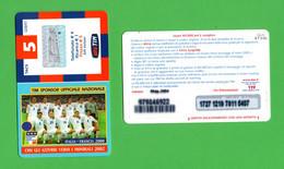 TIM  - Con Gli Azzurri Verso I Mondiali 2002 - 5 €  Validità  Mag. 2004  -  IF5-M  ETU-D2 - Ricarica Già USATA - GSM-Kaarten, Aanvulling & Voorafbetaald