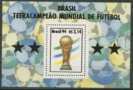 Brasilien 1994 Fußball-WM USA Gewinner Brasilien Block 96 Postfrisch (C95608) - Blocks & Sheetlets