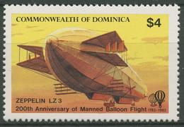 Dominica 1983 200 Jahre Luftfahrt Zeppelin LZ 822 Postfrisch - Dominica (1978-...)