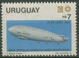 Uruguay 1983 URUEXPO Weltkommunikationsjahr Zeppelin 1672 A Postfrisch - Uruguay