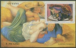 Guyana 1990 Gemälde P.Picasso Stillleben Block 96 Postfrisch (C97348) - Guyana (1966-...)