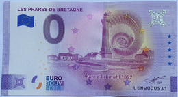 BILLETE 0 Euro Souvenir 0 € FRANCIA : 2021-5 PENMARC'H, LES PHARES DE BRETAGNE - Phare D'Eckmühl - Unclassified