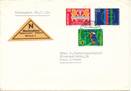 Switzerland Cover C.O.D.Cash On Delivery Fr. 11,50 Olten 2-5-1969 - Covers & Documents