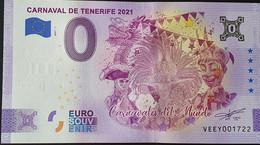 BILLETE 0 Euro Souvenir 0 € De ESPAÑA: 2021-1 CARNAVAL DE TENERIFE - Unclassified