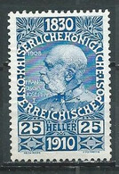 Autriche YT N°127 François-Joseph 1° Neuf ** - Unused Stamps