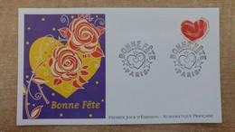 FDC N°3219 : Timbres De Souhaits. Coeur. - 1990-1999