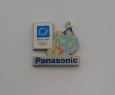2004 Athens Olympic Games, Panasonic Sponsor Pin, Mascots On Earth - Jeux Olympiques