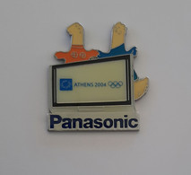 2004 Athens Olympic Games, Panasonic Sponsor Pin With Mascots - Jeux Olympiques