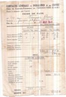 Dépt 77 - Cie Gale Du Duralumin Usine De COURTALIN-POMMEUSE Par FAREMOUTIERS - Fiche De Paye Août 1948 Pierre BOURGEOIS - Faremoutiers