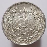 1/2 Mark 1917 F (Germany) Silver - 1/2 Mark