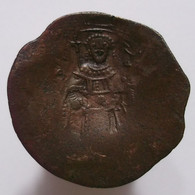 Billon Aspron Trachy - Isaac II (1185-1195 AD) Byzantine Empire - Byzantine