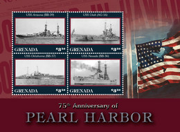 Grenada 2016 World War II , Pearl Harbor ,warships - Grenada (1974-...)