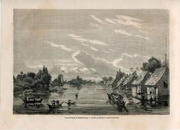 1862 Print Kalimantan Borneo Indonesia Malaysia Dayaki Banjarmasin - Prints & Engravings