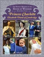 Grenada 2015  Princess Charlotte ,  Queen Elizabeth II , Princess  Diana , Prince George - Grenada (1974-...)